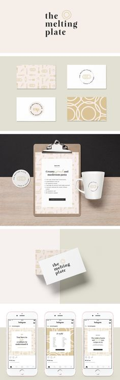 The Melting Plate: Branding Design. graphic design, branding, logo design, feminine design, web design, blog design, #graphicdesign, #designinspiration, #branding, #logodesign #brandingidentity