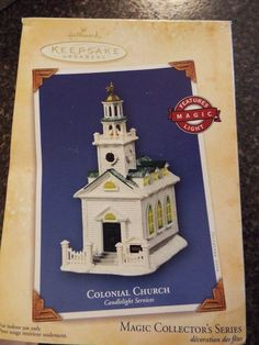 Hallmark Colonial church Magic Light, Collectors Series#7, NEW!