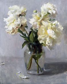 830 best white flowers images on pinterest in 2018 flower art still life with white peonies by kyle ma oil 18 x 14 mightylinksfo