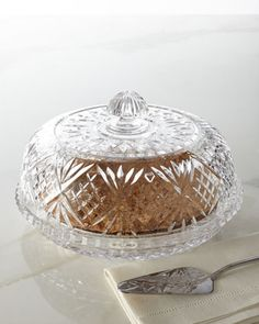 """Dublin"" Covered Pie Dome by Godinger at Horchow. $64.90"