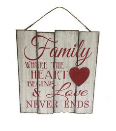 Valentine's Day Wall Decor-Family Love Never Ends