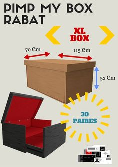 Pimp My Box Rabat/ Shoe Box /storage