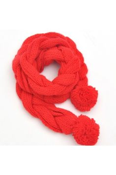 $45.99 Fashion Twist Ball Knit Scarf