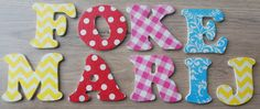 Made by Marieke: Decoratie letters