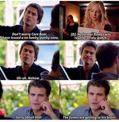 TVD 7x05 - Damon, Stefan, and Caroline