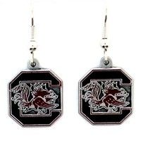 South Carolina Gamecocks Dangle Earrings - These dangle earrings are fully cast with exceptional det