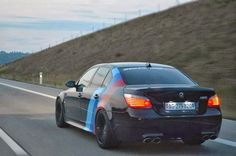 BMW E60 M5 black with ///M stripe