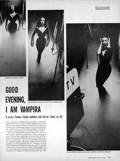 Vampira in Life Magazine, June 1954