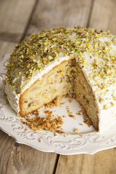 Find out how to make delicious Rhubarb, Orange, Pistachio & Cardamom Cake with this vegetarian recipe from Veggie Magazine