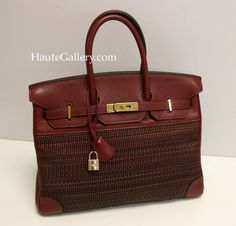 http://www.haute-gallery.com/   This Rouge H Crinoline Birkin 35cm is a rare beautiful !! Roomy to fit all your needs, yet it is very light weight. Replica Hermes is so slouchy and relaxed, yet Baffalo skin is very sturdy !! It is in Average Used condition. There're rubbed wear and color loss on the leather bottom corners. The inside fabric lining is clean. Hardware is gold and shiny with superficial scratches. Functionally it is sound and solid. Without stuffing, this birkin is very slouchy…