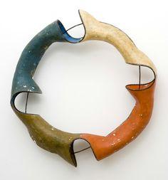 """John Duff   Untitled   2002  Fiberglass, Paint, Iron, plaster  68""""H x 61""""W x 10""""D"""