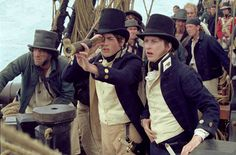 shot from Master & Commander: The Far Side of the World - The Midshipmen sight something strange on the horizon. Young Teacher Outfits, Winter Teacher Outfits, Non Commissioned Officer, Master And Commander, Patrick O'brian, Boy Doll Clothes, Pirate Adventure, Man Of War, The Far Side