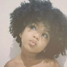 Shes a doll! Cute Mixed Babies, Cute Black Babies, Beautiful Black Babies, Beautiful Children, Little Babies, Cute Babies, Baby Kids, Curly Hair Styles, Natural Hair Styles
