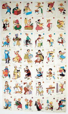 El juego de las 7 familias - cartas