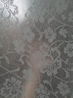 Starched lace window treatment You make a paste with equal parts cornstarch/cornflour and hot water and then add extra boiling water. In my case it was two tablespoons cornflour and two tablespoons water to start with and then I mixed in a cup and a half of boiled water from the kettle.