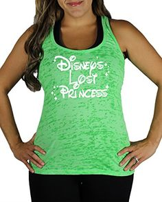 Disneys Lost Princess Womens WHITE INK Burnout Tank Top Green Medium -- Continue to the product at the image link.