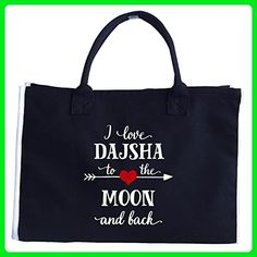 I Love Dajsha To The Moon And Back.gift For Boyfriend - Tote Bag - Top handle bags (*Amazon Partner-Link)
