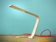 Bent Plywood Modern LED Table Lamp with Colored by GaganDesign, $250.00