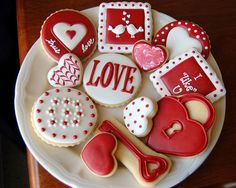 Love #Valentines #cookies