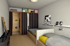 Living in a shoebox     Luxurious dorm room by Ruta Bagdzeviit