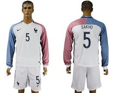 france 5 sakho away long sleeves soccer country jersey cheap jerseys from china wholesale