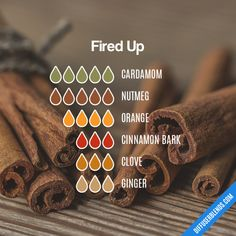 Fired Up - Essential Oil Diffuser Blend Cardamom Essential Oil, Essential Oil Scents, Essential Oil Perfume, Essential Oil Diffuser Blends, Essential Oil Uses, Doterra Essential Oils, Diffuser Recipes, Osho, Young Living