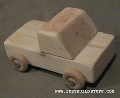 Easy beginners wood project Unpainted Truck