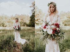 Gorgeous bohemian bride