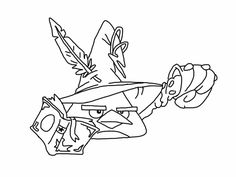 Angry birds epic coloring page - chuck