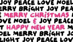 "Merry Christmas & Happy New Year// font is ""felt noisy""  from here: http://www.myfonts.com/fonts/pintassilgo/felt-noisy/"