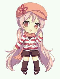 Cute girl drawing | We Heart It | chibi and cute