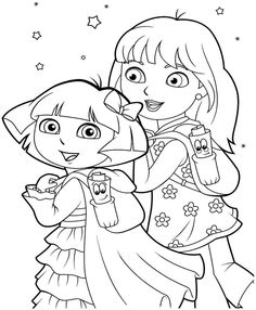 printable free coloring pages cartoon dora the explorer and friends for boys girls 30315