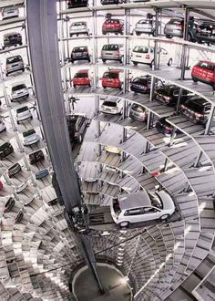 Self-parking-garage-  located in Munich, Germany