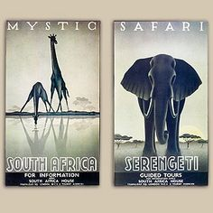 "Mystic Safari Gallery Wrap, Set of 2  SKU #377806  $79.98  Sale: $63.98     This pair of stretched canvas prints from artist Gayle Ullman provides an alluring snapshot in poster-style of the wilds of South Africa and the Serengeti. Our wildly popular ""Mystic Safari"" pieces make a bold statement within your home setting."