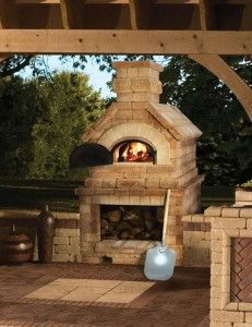 Outdoor Pizza Oven? Yes please. While the Seattle weather doesn't allow for year-round use, at least that means there won't be year-round cleaning/maintenance. I can dig it.
