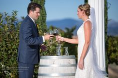 This bride and groom made a unique addition to their vows. It fits perfectly in a Temecula wedding. Photos from a real vineyard wedding at Mount Palomar Winery in Temecula, California. Photos by Photoquest Studio #mountpalomarwineryweddings