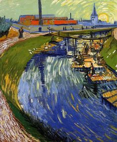 Vincent van Gogh Women Washing on a Canal