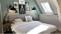 Our darkened historic Oval Room Blue gives beautiful depth and balance to Stef's peaceful bedroom Loft Bathroom, Bedroom Loft, Bedroom Inspo, Bedroom Ideas, Master Bedroom, Farrow And Ball Bedroom, Oval Room Blue, Peaceful Bedroom, Interior And Exterior