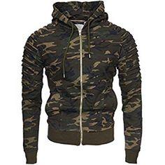 Amaci&Sons Herren Cargo-Style Pullover Sweatshirt Hoodie Sweater Camouflage 4003 Camouflage Khaki M: Amazon.de: Bekleidung Camouflage, Motorcycle Jacket, Hoodies, Tops, Sweaters, Jackets, Sweatshirt, Fashion, Hoodie