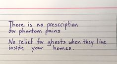 No relief for ghosts when they live inside you...