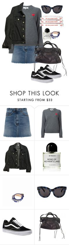 """Untitled #1917"" by nillarunfelt ❤ liked on Polyvore featuring Marc by Marc Jacobs, Play Comme des Garçons, American Apparel, Byredo, Balenciaga, Cheap Monday and Vans"