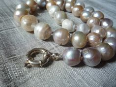 12-14mm White Pearl Necklace. $75.00, via Etsy.