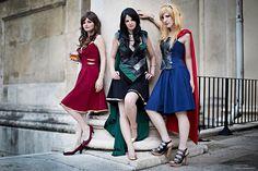 The Avengers Style Dresses (Iron Man, Loki, Thor) The Avengers, Cosplay Dress, Cosplay Costumes, Diy Costumes, Geeky Chic, Moda Nerd, Loki & Thor, Loki Dress, Iron Man
