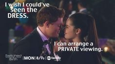 ALL the Bemmett feels! We thought the outdoors Switched Prom was such a fun idea! | Switched At Birth