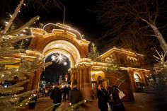 Tivoli Gardens Christmas Market, Copenhagen Best European Christmas Markets, Christmas Markets Europe, Best Christmas Lights, Holiday Lights, Nordic Christmas, Father Christmas, Xmas, Denmark Travel, Tivoli Gardens