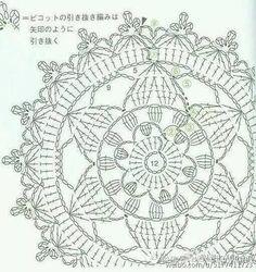 Супер потрясающий вязания крючком цветы дурмана, но и ощущение новой ямы [графика] | Графический бар - графический бар