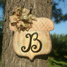 This adorable acorn door hanger is available in my shop! : acorn doors - Pezcame.Com