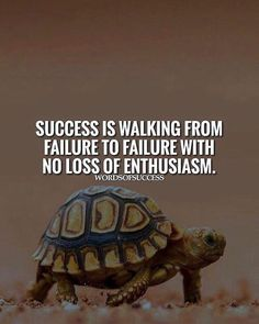 Success is walking from failure to failure..