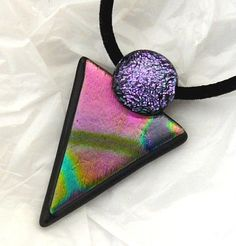 Dichroic Glass Pendant by kathy2722 on Etsy, $22.00