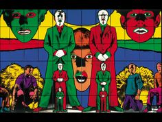 Gilbert & George Waking, 1984 Photo-piece 363 x cm Guggenheim Bilbao Museoa Jean Michel Basquiat, Robert Rauschenberg, Mark Rothko, Andy Warhol, Painting On Photographs, Guggenheim Museum Bilbao, Gilbert & George, Shakespeare Festival, Queer Art